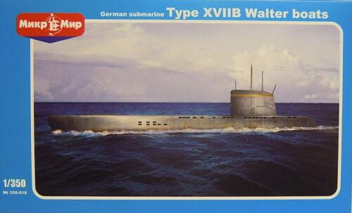 1:350 Deutsches U-Boot Typ XVIIB Walter Mikro-Mir NEU ! Ätzteile Plastik