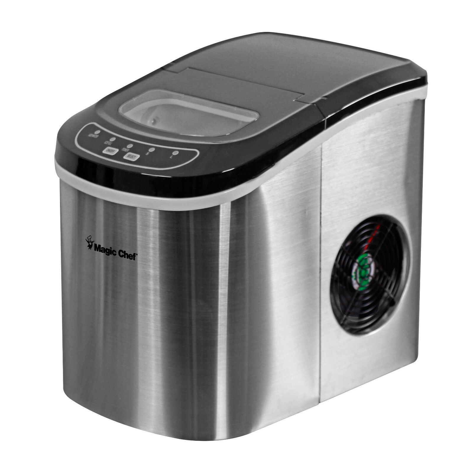 Magic Chef MCIM22ST Tabletop Countertop Ice Maker Portable Stainless Steel
