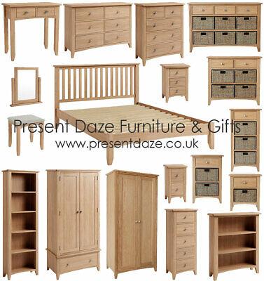 Greenwich Light Oak Bedroom Furniture With Brushed Metal Handles Pre Assembled Ebay
