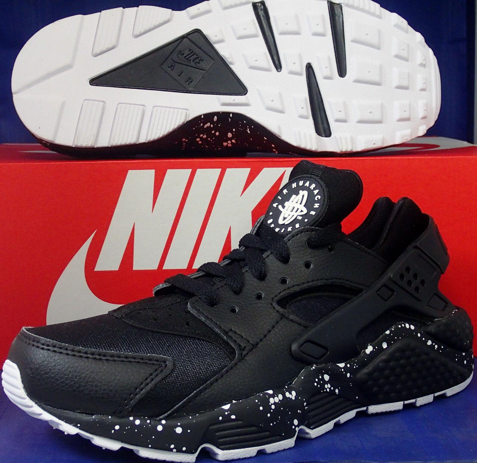 donna Nike Air Huarache Run iD nero bianca SZ 6.5 ( 777331-994 )