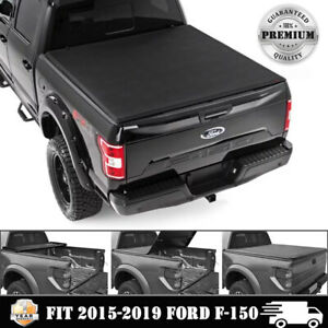 New Tri Fold Fits 2015 2019 Ford F150 5 5 Ft Tonneau Bed Cover