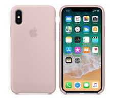 timeless design c599b 841fb 2018 Pink Sand Genuine Official Original Apple Silicone Case iPhone X 10