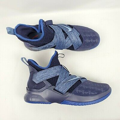 detailed look 4ff43 30968 Nike Lebron Soldier XII 12 Basketball Shoes Size 11.5 Blackened Blue  AO2609-401 | eBay