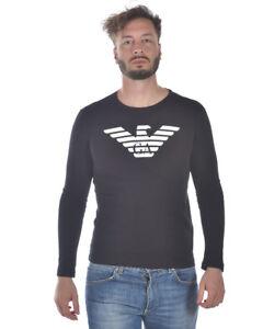0e05487ed78 Emporio Armani T Shirt Sweatshirt Cotton Man Black 8N1T641JPZZ 999 ...