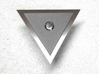 Klingelplatte Edelstahl Sepia grau Design Venus Klingel Türklingel Taster