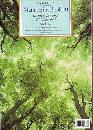 NOVELLO MANUSCRIPT Book 10 A4 12st 200p Pad