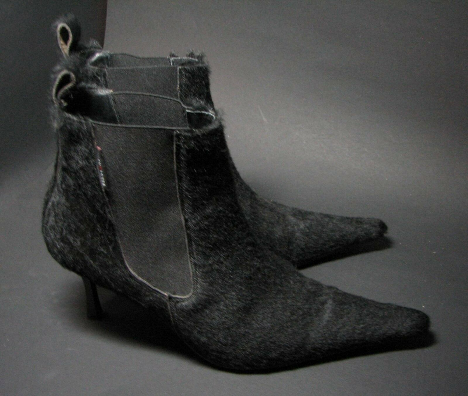 DIAVOLEZZA Stiefellette echt Fell 38 High Heels schwarz Ankle Stiefel fast wie NEU