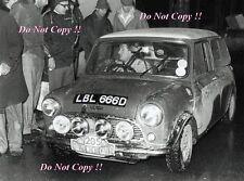 Paddy Hopkirk Mini Cooper S LBL 666D Monte Carlo Rally 1967 Photograph 1