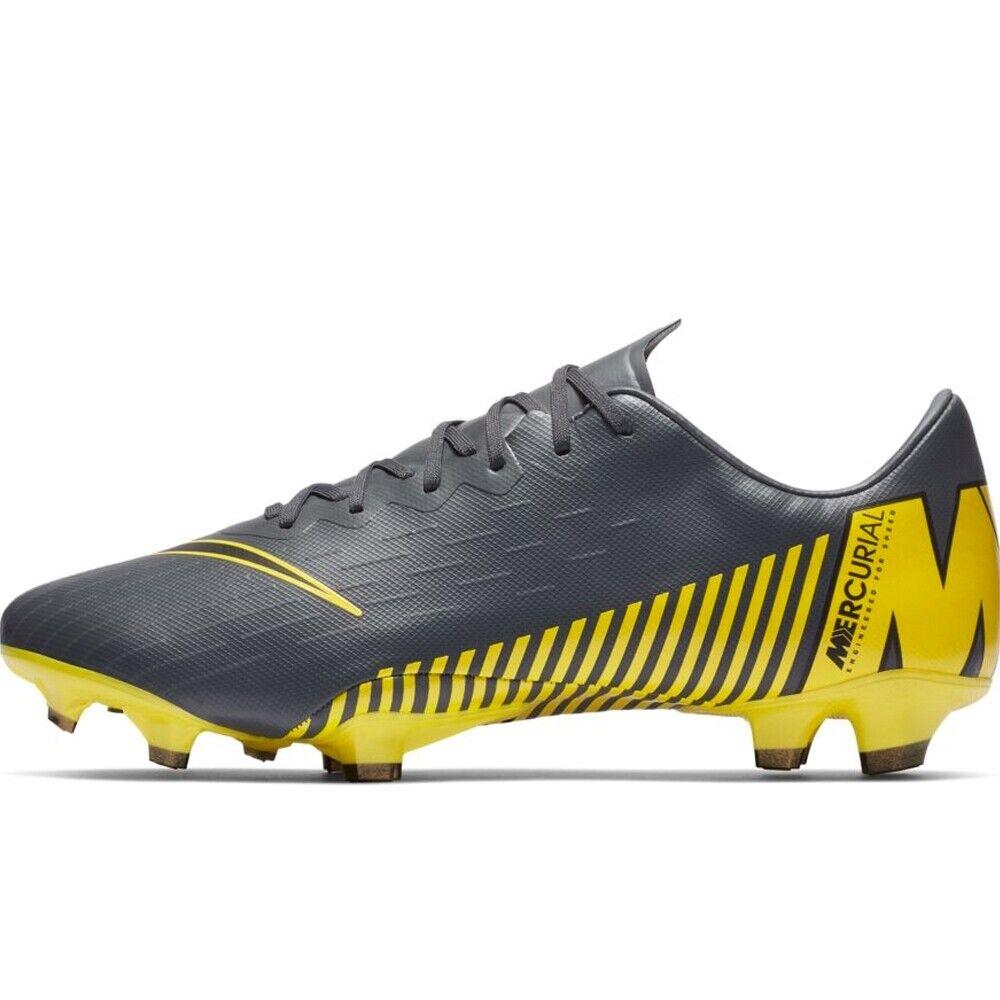 Nike Vapor 12 Pro FG Botines de fútbol gris Oscuro Negro Dark Tamaño G 10.5 AH7382 070