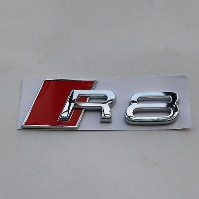 Audi R8 Matt black Metal Badge Rear Boot Emblem S Line A 1 2 3 4 5 6 7 Q RS S