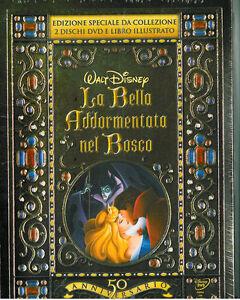 LA-BELLA-ADDORMENTATA-NEL-BOSCO-Ed-GIFT-2-DVD-LIBRO-Walt-Disney-NUOVO