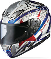 Kabuto Aerobladetricolor, Large L Motorcycle Full Face Street Helmet Red White