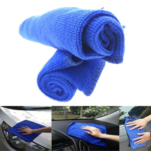 1 Set 12*12/'/' Blue Microfiber Towels Car Auto Home Clean Wash Kitchen Washing