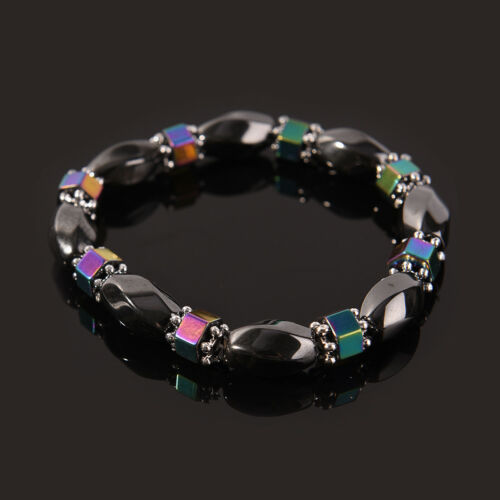 Magnetic Bracelet Perles Hématite Pierre Thérapie Soins De Santé perdre du poids Bijoux