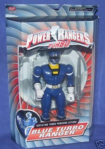 Power Rangers Turbo blueE TURBO RANGER New New New 8  Justin Factory Sealed d8735d
