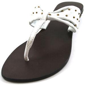 Donna lorrae infradito sandali di cuoio bianco taglia UK 3