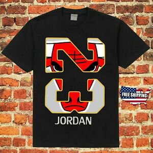 Chicago Bulls #23 Michael Jordan NBA Flight Air Throwback Jersey T Shirt New