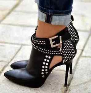 a e Stivaletti con spillo con donna punta a tacco alla scarpe moda sexy tacco 66EvwRq4x