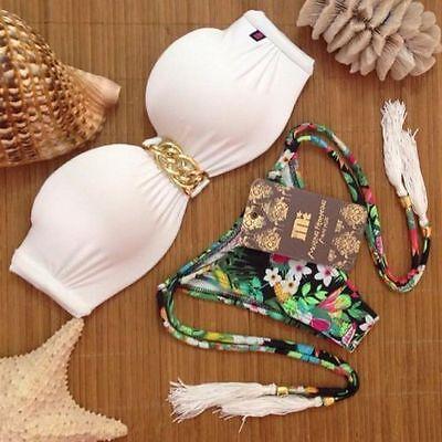2015 Women's Bikini Set Sexy Bra Floral Swimsuit Push-up Swimwear Summer Beach