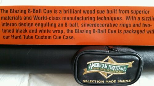 American heritage blazing 8 ball cue and case combo $100 retail.