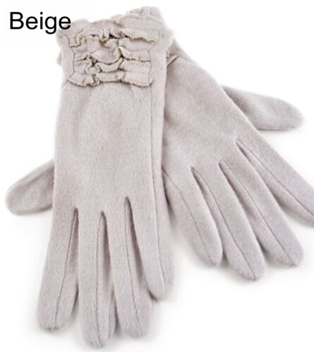 Ladies Ruffle Cuff Gloves One size