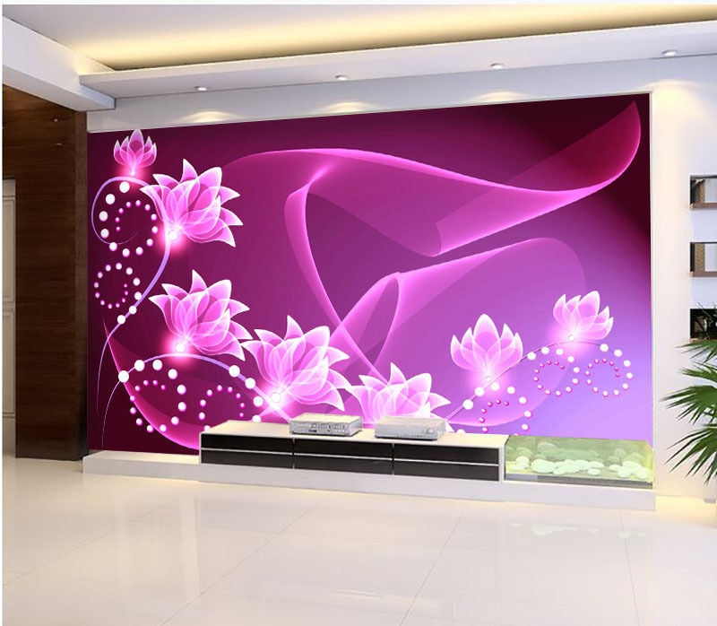 3D Beautiful Bright Flowers Wall Paper Print Decal Wall Deco Indoor wall Mural