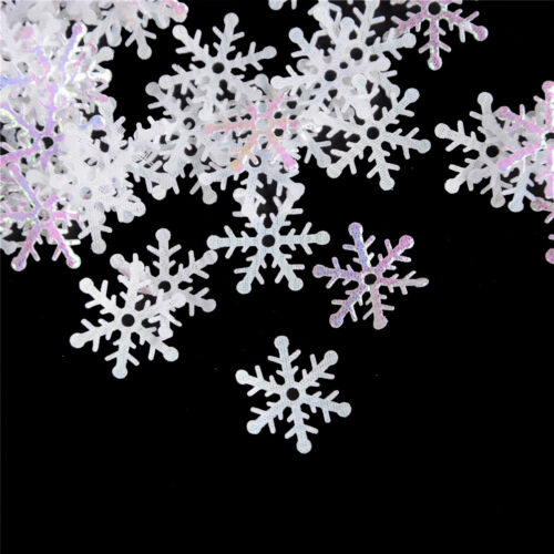 300Pcs//Pack DIY Snowflake Ornaments Christmas Holiday Party Home Decor Gift 9H