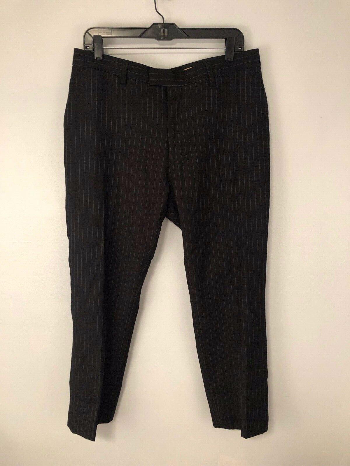 John Varvatos  Laine Wool Pinstripe Trousers 34