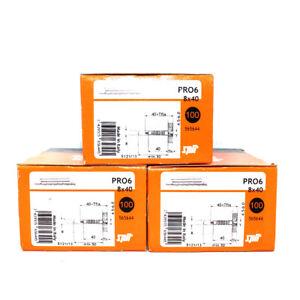 Lot De 300 Spit ® 8 Mm X 40 Mm Pro 6 Universel Nylon Mur Bouchons Haute Performance Plug-afficher Le Titre D'origine
