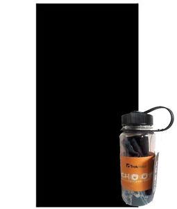 Trekmates Black Choob Buff headwear with bpa free reusable drinks bottle