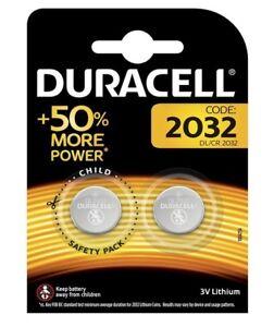 12x-CR2032-Lithium-Knopfzelle-3V-DL2032-DURACELL-6x-Doppelblister-Uhren-Rechner