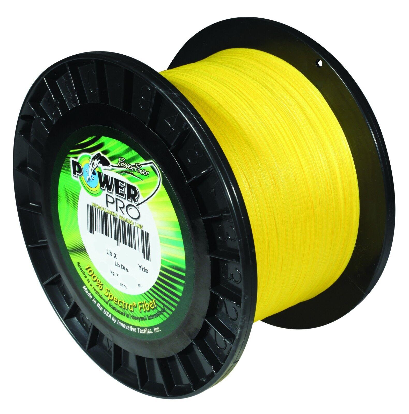 Power Pro Hi-VIS Yellow 15lb 500yds New Genuine  Free shipping