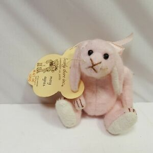 Bearly-There-Mary-Agnes-47-of-1000-Limited-Plush-Pink-Bear-Linda-Spiesel-Jointed