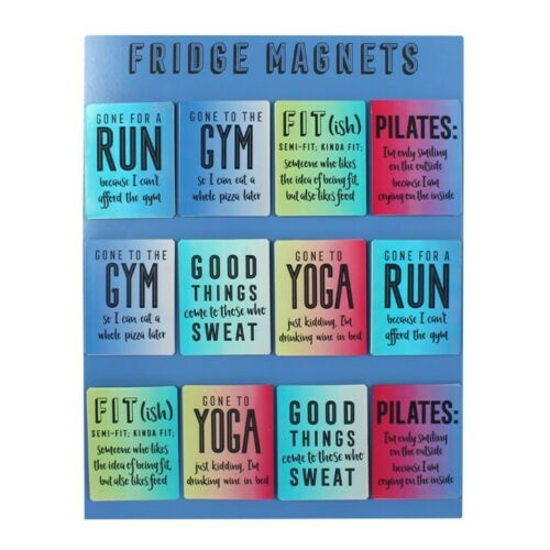 Fun Sayings Gym Aimants de réfrigérateur NEUF