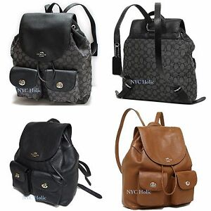 bb8465f7d152 Image is loading New-Coach-F37410-F37621-Billie-Charlie-Backpack-Pebble-