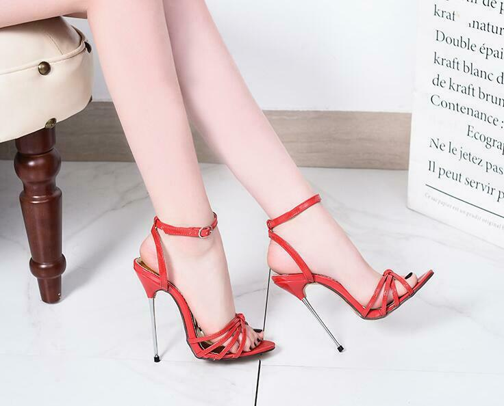 donna Runway Stilettos 13cm 13cm 13cm Sexy Open Toe Ankle Strappy Sandal Pointy Toe scarpe bd82ac
