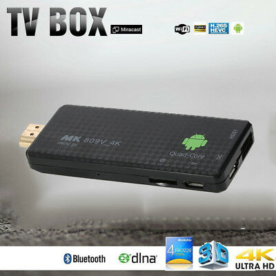 4K Android 7.1 Smart TV Dongle Box Stick Mini PC WiFi 2G//8G 1080P Quad Core