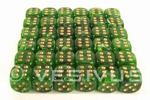 Dice Chessex Vortex Green Mini Marble Swirl 36d6 D6 Block Set Plastic 12mm 27835 Ebay