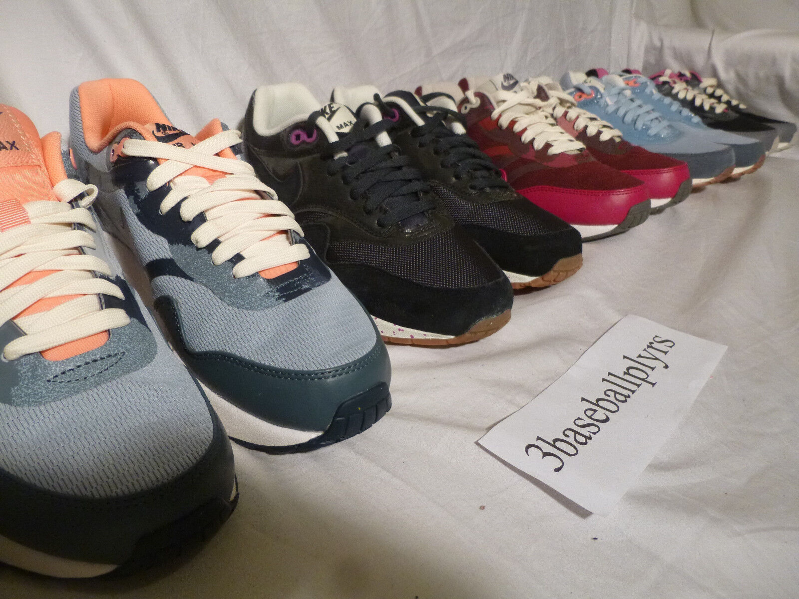 5 Pair LOT  Nike Womens Air Max 1 Size 7 RARE - UNRELEASED SAMPLES - BRAND NEW