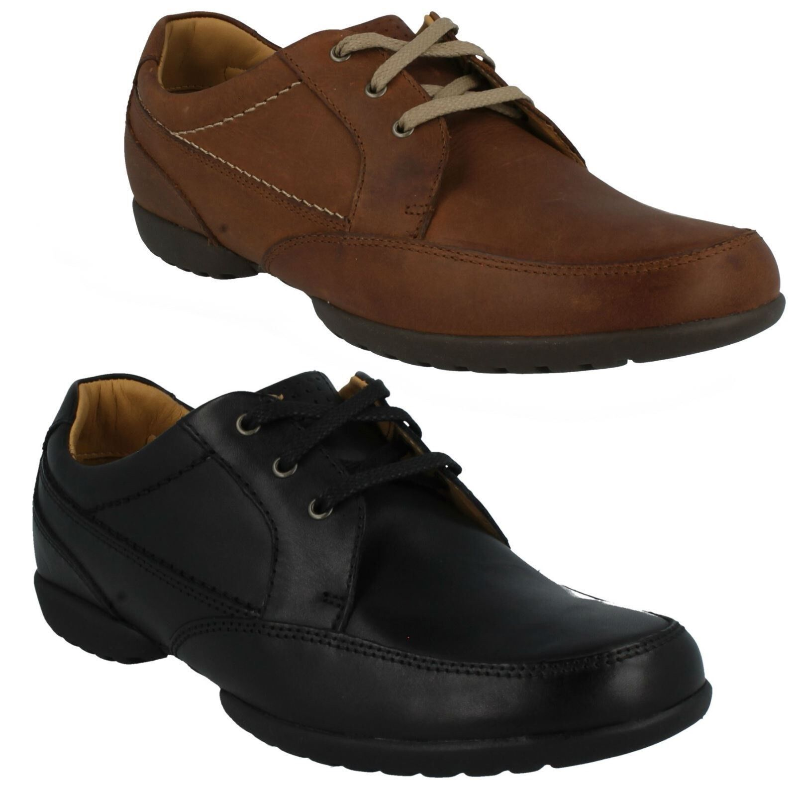 Herren CLARKS LEATHER LACE UP CASUAL SMART FORMAL WORK Schuhe SIZE RECLINE OUT a92889