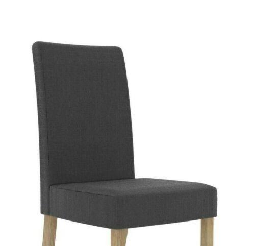 Sera Matching Fabric Dining Chair / Modern Charcoal Seat