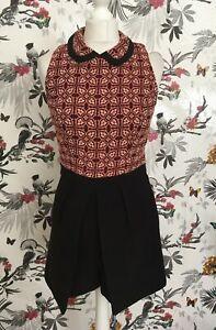 *miss Selfridge* Black Plum Floral Jumpsuit Romper Playsuit Size 10