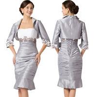 Edles Abendkleid Kleid Ballkleid Brautkleid Brautjungfernkleid 34 - 54 Mit Jacke