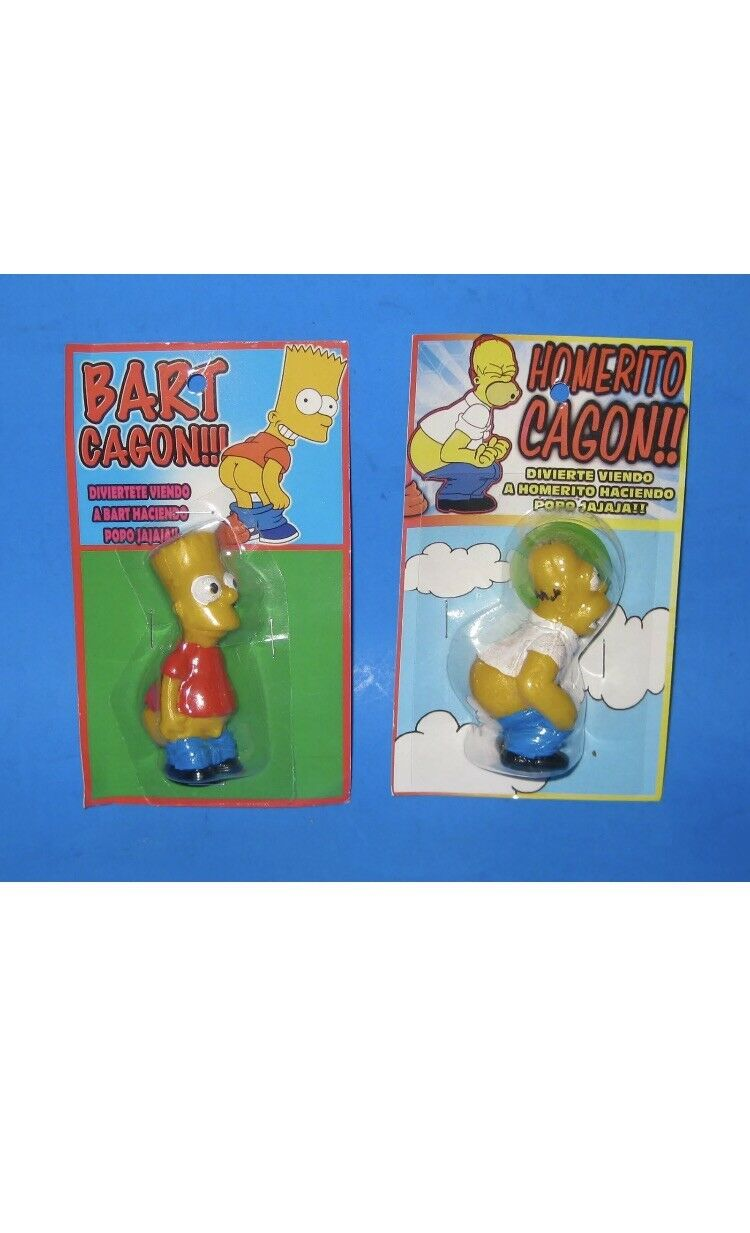 Bootleg Bart cagon The Simpsons-Homer cagon-pooping toy-rare-New