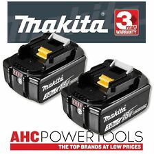 2 x Makita BL1830B 18V Li-Ion Battery 3.0Ah (With Charge Level Indicator)