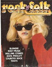 REVUE : Rock & Folk # 176 blondie elvis presley rolling stones roxy music toots