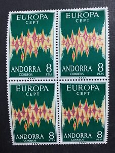 MOMEN-ANDORRA-CEPT-1972-MINT-OG-NH-600-BLOCK