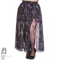 Altaira Maxi Long Skirt [trees, Ravens, Spiderwebs] Steampunk Style Hell Bunny