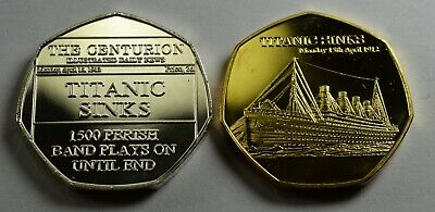 Titanic Full Set 5x Collectors Token//Medals 24ct Gold WW1 Everest Hindenburg