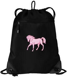 ea8504214c3 Image is loading CUTE-Horse-Drawstring-Bag-BEST-Horse-Backpacks-UNIQUE-